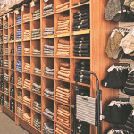 carhartt pants display in barebones store